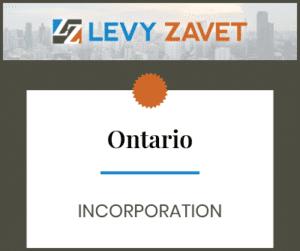Ontario [Ontario Incorporation]