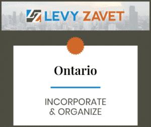 Ontario Incorporate & Organize